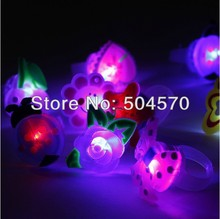 50pcs/lot Birthday Party LED Glowing finger rings favors,Cartoon Flashing Ring Light for Kids toys/Events/Party Favor