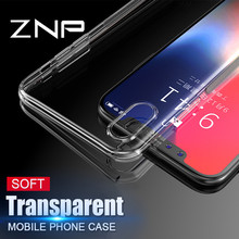 ZNP Transparent Silicone Case For iPhone 7 6 8 Plus X 5s Phone Cover Soft TPU Protector Shell For iphone X 10 8 7 6S 5 SE Case(China)