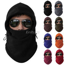 2017 Fashion Hot Fleece Thermal Motorcycle Balaclava winter Face Mask Hood Hat Helmet cap A1