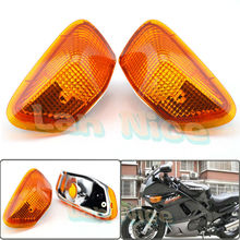 For KAWASAKI ZZR 400 1990-1992 Motorcycle Front Turn signal Blinker Lens Amber