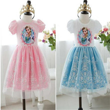 Baby Girls Summer Dress Girl's Cotton Princess Lace Dress Kids Party Dresses 2017 New Arrival 35E