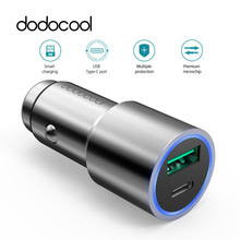 dodocool Car Charger Metal Casing Dual Ports Fast Charging with QC3.0 USB-A USB-C Charging Ports for LG HTC Xiaomi Lenovo Nexus