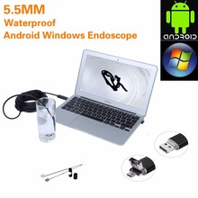 5M Worldwide Hot Android&PC USB Endoscope Waterproof 6 LED USB Waterproof Endoscope Borescope Snake Inspection Video Camera 7mm