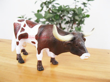 FREE SHIPPING Blip toys solid wild animal toy bull  6-7.5CM