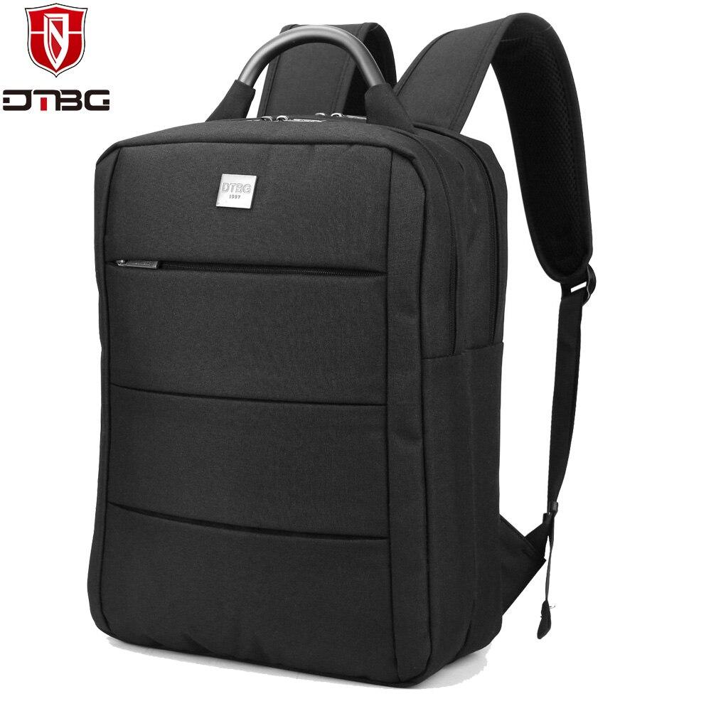 DTBG 15.6 Inch Laptop Backpack Men Large Capacity Waterproof Nylon Bag Compact Mens 17inch Backpacks Unisex Daypack<br>