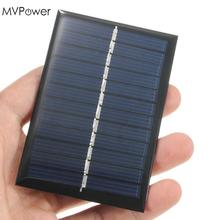 MVpower Hot Sale 6V 0.6W Solar Power Panel Poly Module DIY Small Cell Charger Solar Panel For Light Battery Phone Toy Portable(China)