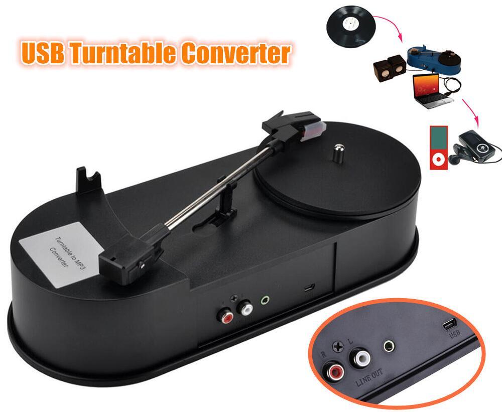 2016 New Douk Audio Mini USB Turntable Converter Phonograph LP Vinyl Record Player to MP3/WAV/CD/PC Free Shipping<br>