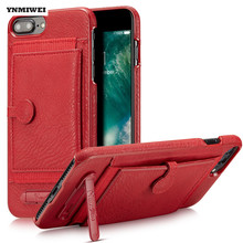YNMIWEI For iphone 6 Plus Case 7 Plus Cover China Red Anti-knock Leather Phone Cover For iphone 6 7 Plus 5.5 Stand Wallet Cases