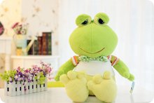 stuffed animal plush 100cm plush toy light green frog toy doll w1937