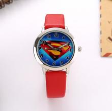 children fashion superman dial cute wristwatch for kids dress promotion gift quartz watch with Luminous hands
