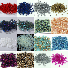 Hot~~ 4mm 1000pcs/lot Bicone 5301 Austrian crystals beads Loose Spacer Bead for DIY Jewelry Making U pick colors(China)