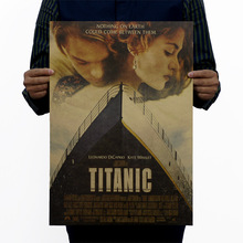 Titanic Rose Jack Vintage Kraft Paper Classic Movie Poster Map Home Decor Wall Decals Art Removable Retro Painting(China)