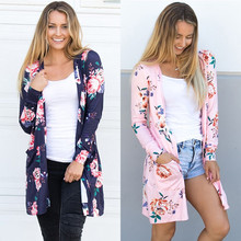 Women Cardigans 2017 Spring Autumn Long Sleeve Print Knitted Cardigan Sweater Female Outwear Coat Kimono Shirt Jump Tops