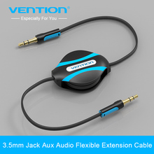 Vention Brand Retractable Aux Cable 3.5mm Male to Male Auxiliary Stereo Jack Audio Cable For iphone 6 Car Sumsung Mp3 Mp4