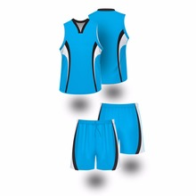 Blank basketball tops&shorts for custom top grade fabric basketball uniform design