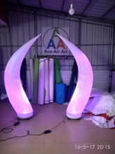Amazing Stage Decoration Inflatable Cone for Wedding/Event With Led Lights 2 m H