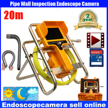 "Sewer Waterproof Video Camera 7""LCD Screen Drain Pipe Inspection camera tube Sonde Drain Clean Waterproof with 90 degree camera(China)"