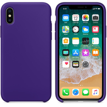 Ultra-Thin Genuine Silicone Leather Soft Case Cover For iPhone X Futural Digital jiu14(China)