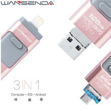WANSENDA USB Flash Drive 32GB 16GB USB 3.0 OTG Pen Drive High Speed Pendrive for iPhone/iPod/iPad/Macbook USB Stick Flash Drive(China)