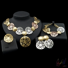 Yulaili China factory direct wholesale jewelry sets traditional Jewellery set Costume Dubai Jewelry(China)