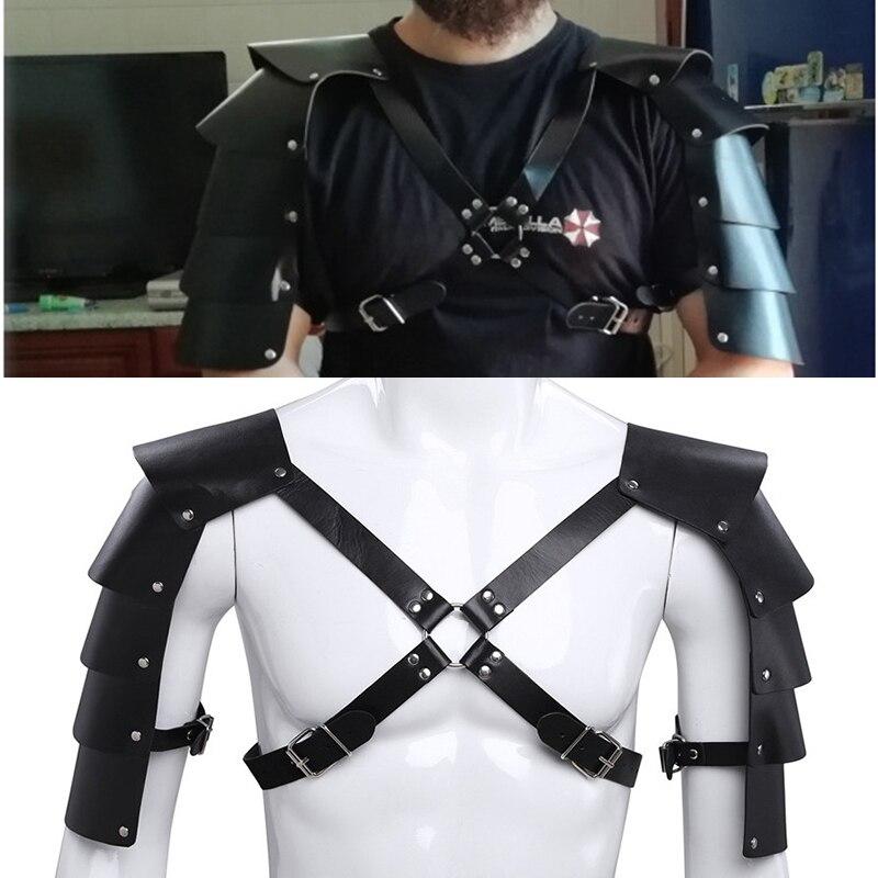 LARP fantasy armor Medieval Leather armor belt for gladiator cosplay skirt