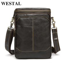 WESTAL Hot Sale Male Bags 100% Genuine Leather Men Bags Messenger Crossbody Shoulder Bag Men's Casual Travel Bag For Man 8003