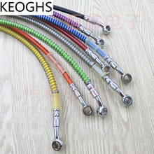 KEOGHS 400mm-1500mm Braided Steel Reinforced Brake Clutch Hose Line Pipe With Stainless Steel Banjo For Crf Yzf Rmz Ktm Kxf