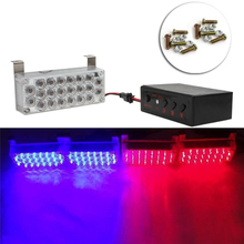 4x22led 12V Car Daytime Running Light Flash Emergency Light Car Auto Police Strobe Warning Lights Blue and Red