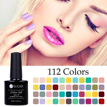 UR SUGAR 7.5ml Nude Candy Series Nail Gel Glitter Polish Pure Color Soak Off Nail Art Decoration Manicure Gel Lacquer(China)
