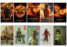 10 pcs/set The Hunger Games 3 Movie Poster Souvenir Card Sticker DIY Decoration Anti-Dust Bus ID Card Stickers 1351