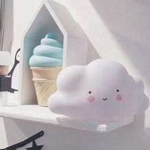 Small Clouds Smile Face Light Emitting Children Baby Kids Bedroom Cute Decoration Atmosphere Night Light Clouds Lighting