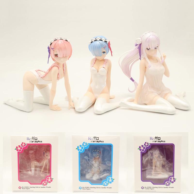 ReZERO Starting Life In Another World Rem Ram Emilia Pajamas Ver. PVC Action Figures Anime Re Zero Collectible Model Toy (6)