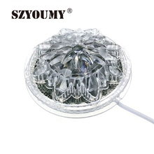 SZYOUMY Lotus Flower 48LED 8W Crystal LED RGB Crystal Magic Ball Effect Stage Light Voice-Activated /Auto Rotating Lights