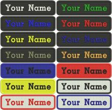Custom embroidery name Patch name tag personalized name and number embroidery patches customized name tag