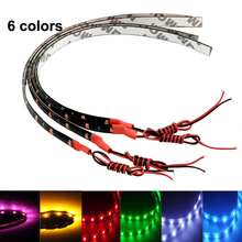 Super bright 12V 30cm LED Daytime Running light DRL Waterproof 5050 SMD Car Auto Decorative Flexible 18 LED Strip Fog lamp(China)