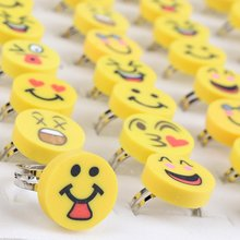 Imixlot 30Pcs Lot Mix Style Smile Baby Child Girl Party Polymer Clay Finger Rings Wholesale