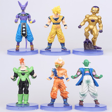 Hot 6pcs/set 12cm Dragon Ball Z Toy DragonBall Goku Super Seiya Action Figure Collectable Model juguetes Kids Toys gifts 30sets