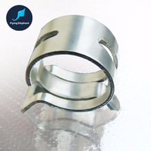 "2 Pieces Computer Water Cooling 3/8'' 1/4"" Silver Thin Elasticity Pipe Clamp 9.5*12.7mm 8*12mm Tubing Clip For OD 12.7-15mm Tube"