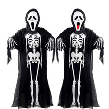 Uwback Halloween Costume Skeleton Skeleton Ghosts Masquerade Cosplay Coustume Ghosts+Spit Tongue Screaming Mask+Gloves XA272