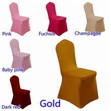 Lycra chair cover 220grams flat front lycra spandex stretch banquet chair cover for wedding decoration wholesale on sale(China)
