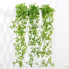 2.4m Artificial Ivy Vine Leaf Fake Sweet Potato Foliage Garland Plant Home Wedding Decoration Hanging Garland Decor(China)