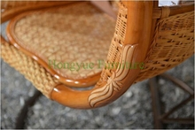 Living room natural rattan hanging chair set furniture