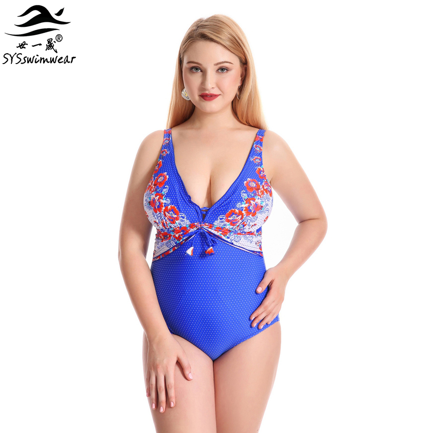 Top Quality Retro Floral Hot Depp-V Plus Size Sexy Swimwear Women Swimsuit Big Breast Lady Summer Backless Bathing Suit<br>