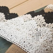 M0902 9cm thick cotton straight edge soluble embroidery lace accessories DIY craft materials(China)