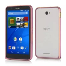 LK aluminum case For Sony Xperia E4 E2003 E2033 E2105 metal bumper alloy protect cover phone shell case + checking number
