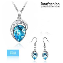 Accessories austria crystal set twinset necklace earrings 049