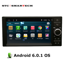 SMARTECH 2 Din Car PC Tablet 7 inch Android 6.0.1 OS Quad-Core for Toyota Universal support 3G WiFi Bluetooth OBD GPS Navigation(China)