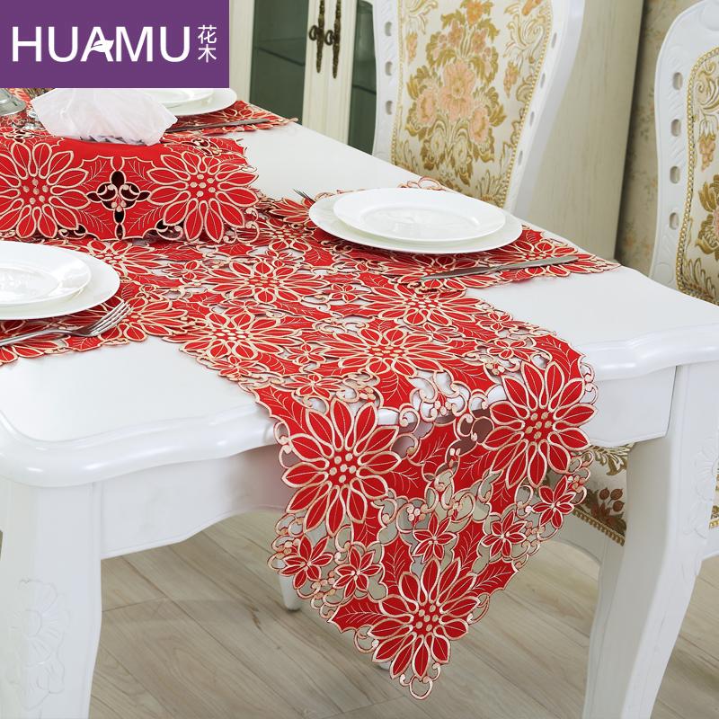 camino de mesa bordado mantel europea elegante tela de organza bordada rstica cubierta de mesa decoracin