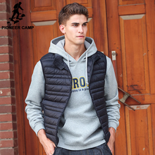 Pioneer Camp Sleeveless down Jacket Men Brand male autumn Spring Casual Ultralight Down Vest Slim Men's Vest Waistcoat 611621(China)