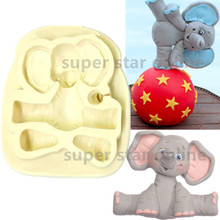 Sugar Buttons Baby ELEPHANT Silicone Mould Cozinha Fondant Cake Molds Cupcake Soap Chocolate Confeitaria Kitchen Accessories